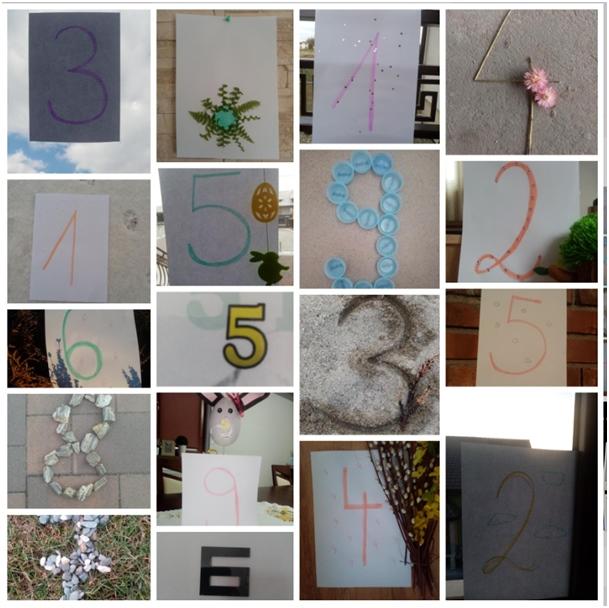 Zdjęcie różnych cyfr - praca konkursowa